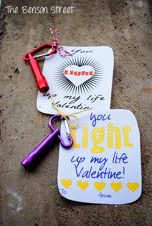 Valentines By Kylie Cosmetics: Flashlight Valentine {Printable Valentines Day Three