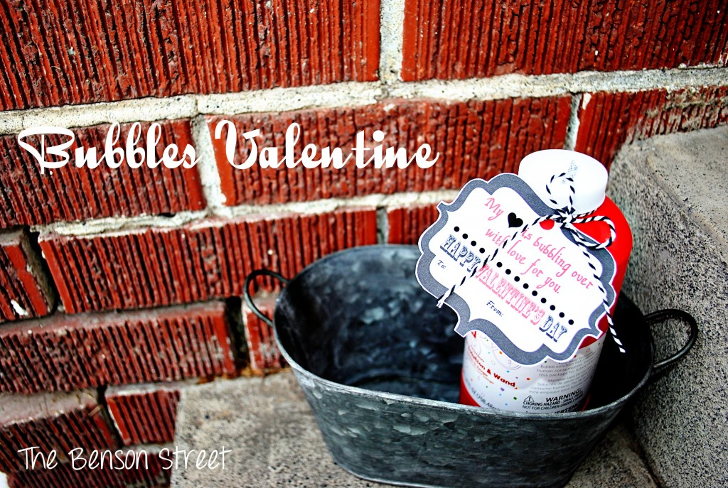 Bubbles Printable Valentine at The Benson Street5