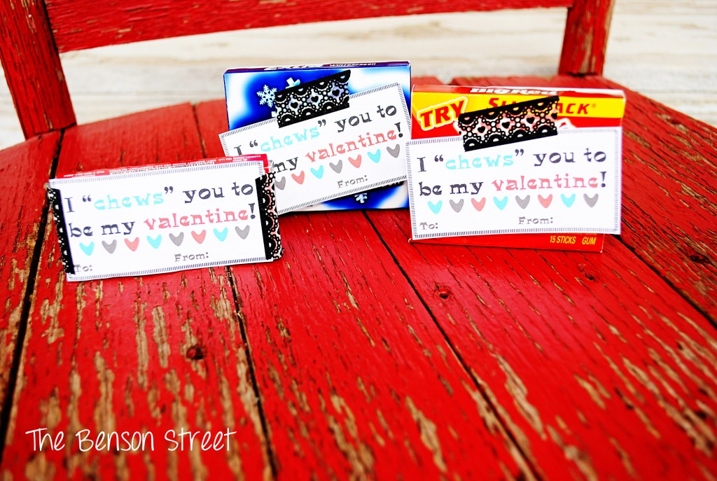 Chewing Gum Printable Valentine at The Benson Street2