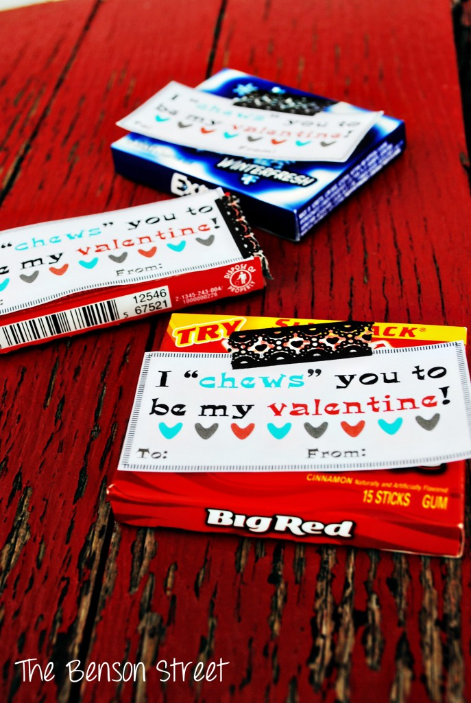 Chewing Gum Printable Valentine at The Benson Street3