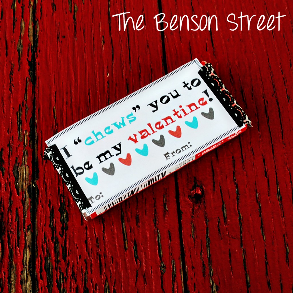 Chewing Gum Printable Valentine at The Benson Street4