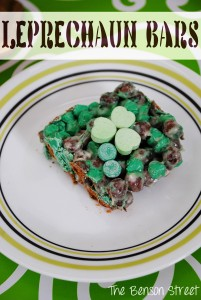 Leprechaun Bars at www.thebensonstreet.com 4