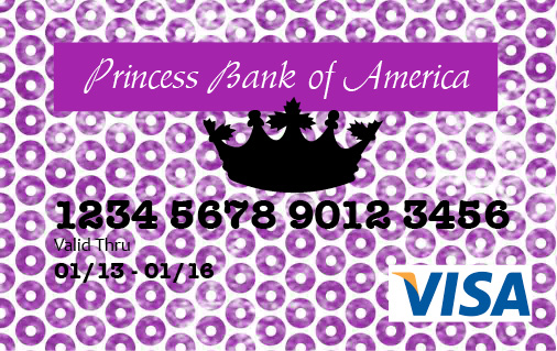 Princess Debit Card (for mini shoppers) - The Benson Street