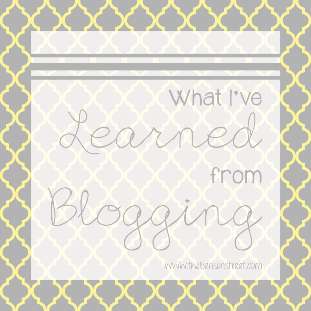 What I've Learned from Blogging at www.thebensonstreet.com