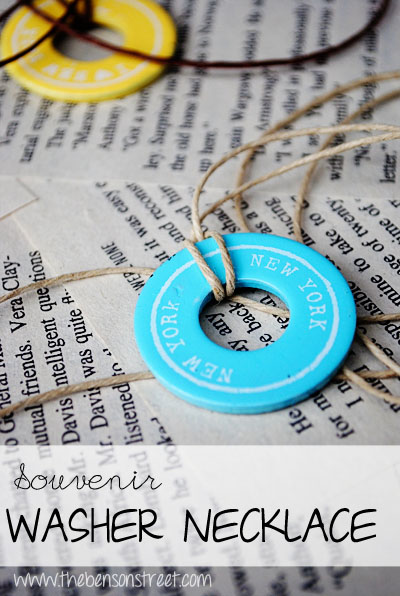 DIY Souvenir Washer Necklaces at www.thebensonstreet.com
