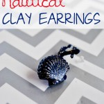 Nautical Clay Earrings