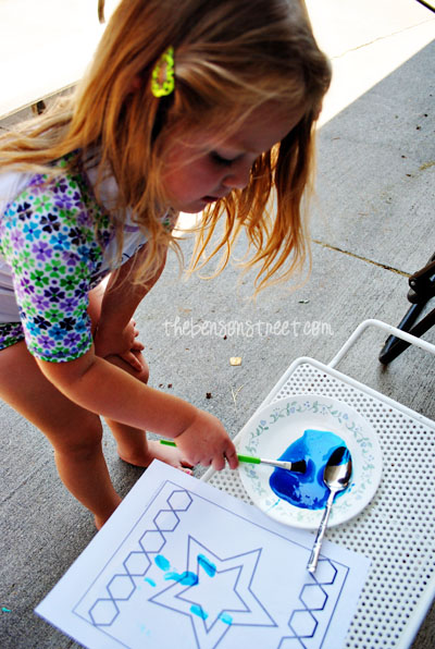 Kids Craft Stained Glass Painting at www.thebensonstreet.com