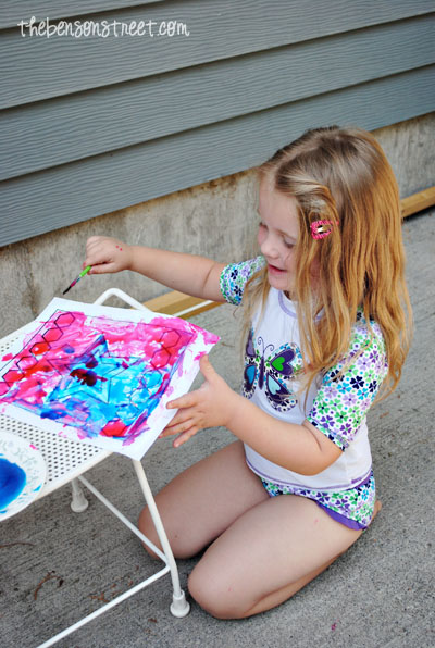 Stained Glass Painting Fun at thebensonstreet.com