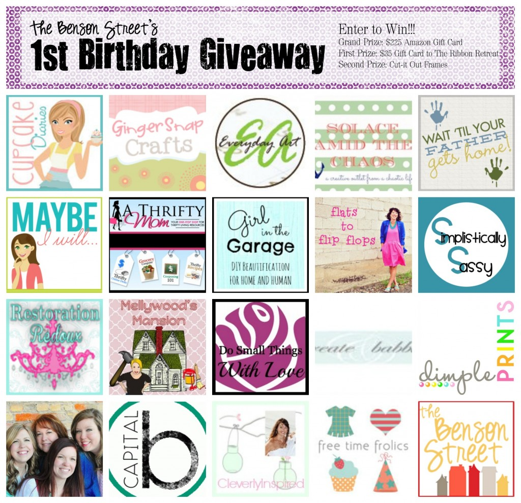 The Benson Street Birthday Giveaway