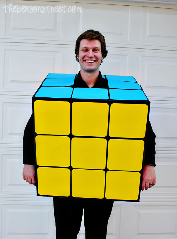 Easy Homemade Rubik's Cube Halloween Costume at thebensonstreet.com