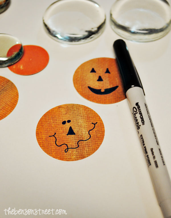 Jack-o-Lantern Magnets at thebensonstreet.com