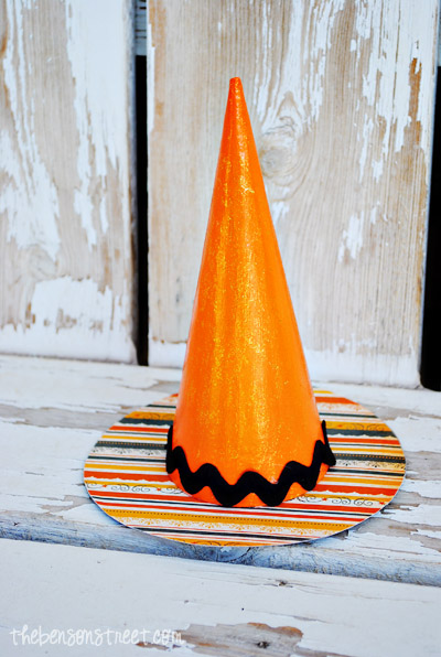 Orange Witch Hat at thebensonstreet.com