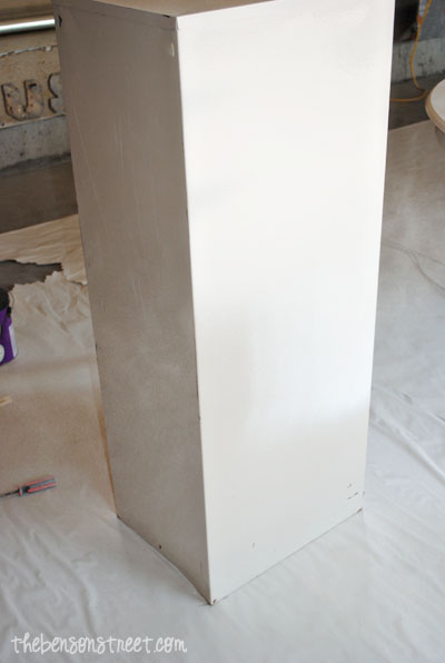 Painting a File Cabinet at thebensonstreet.com
