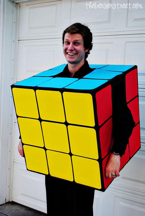 Rubiks cube fancy dress plus size