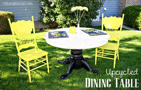 Dining Table Upcycle The Benson Street : Upcycled Dining Table Tutorial at thebensonstreetcom from www.thebensonstreet.com size 600 x 385 jpeg 139kB