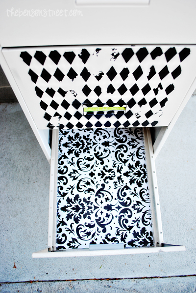 Upcycled File Cabinet Tutorial at thebensonstreet.com