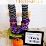Witch Shoes Halloween Centerpiece plus Printable