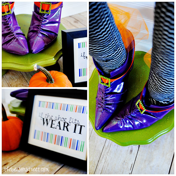 Printable and Witch Shoes Halloween Centerpiece at thebensonstreet.com