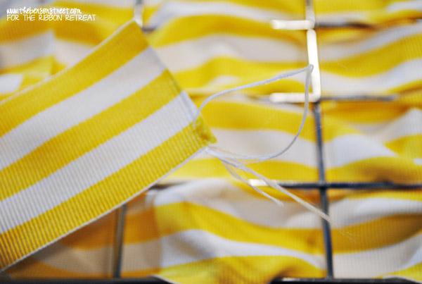 Weaved Ribbon Basket Tutorial