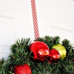 Candy Cane Washi Tape Wreath Hanger