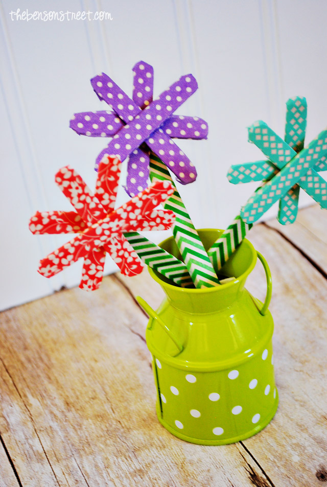 Adorable Spring Flower Craft at thebensonstreet.com