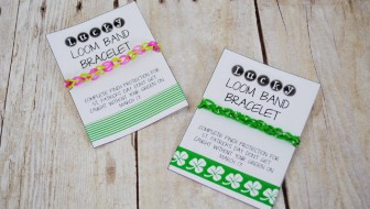 Green St Patricks Loom Band Printable