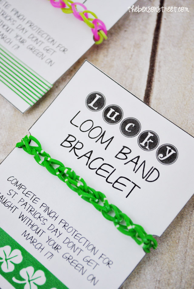 Loom Bands Printable for St Patricks Day at thebensonstreet.com