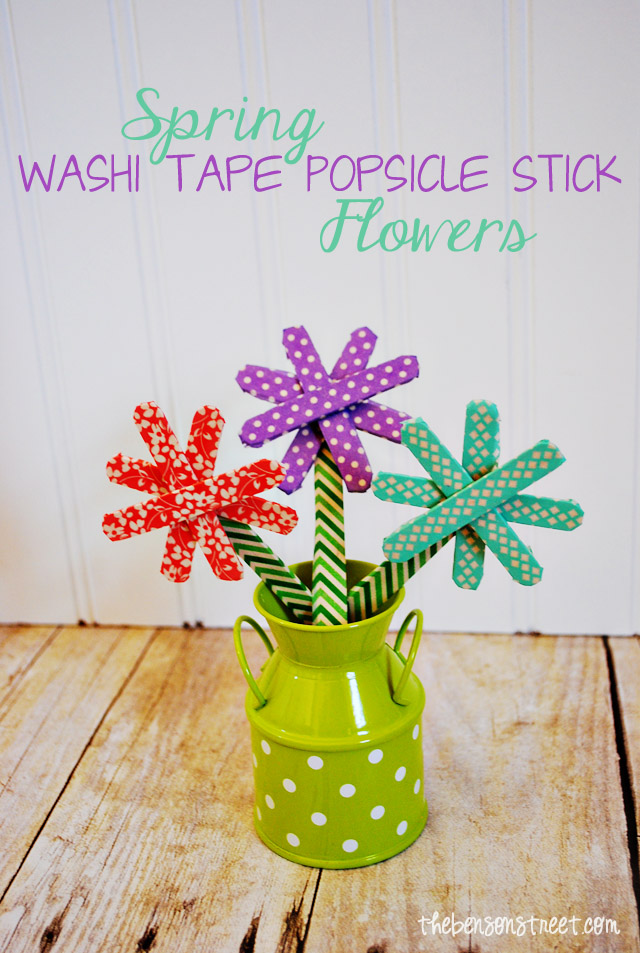 Spring Popsicle Stick Flowers at thebensonstreet.com