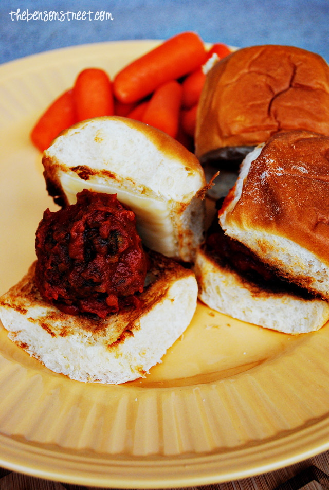Meatball sub sliders would great as an appetizer or a meal. To keep ...
