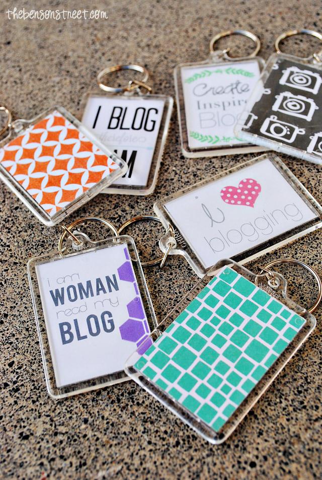 Custom Blog Keychains at