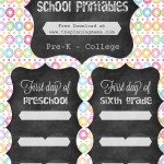 First Day of School Printables: Back to School Series