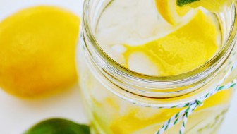 Sweet Lemon Lime Infused Water at thebensonstreet.com