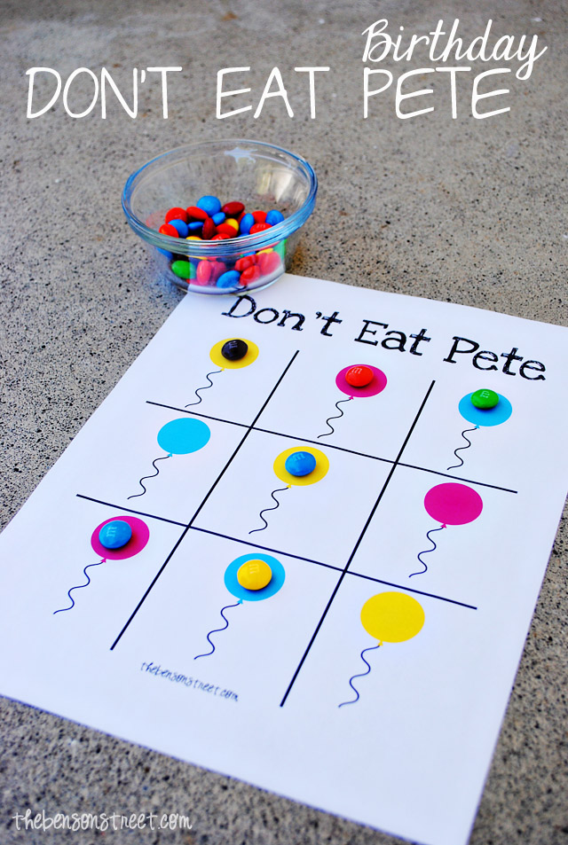 Birthday Don't Eat Pete Printable at thebensonstreet.com