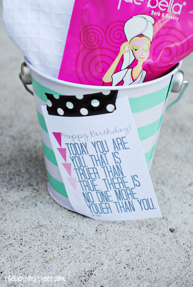 Printable Birthday Facial Kit Tag at thebensonstreet.com
