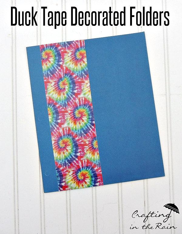 Duct Tape Decorated Folders Back To School Series