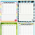 School Schedule Printable: Back to School Series