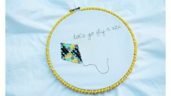 Adorable Kite Embroidery Hoop Art at thebensonstreet.com