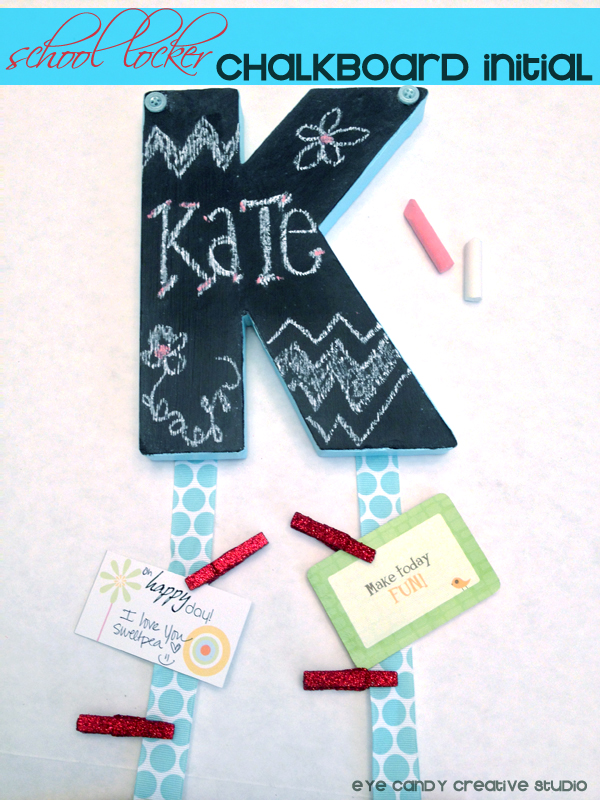 Locker chalkboard back to school series the benson street for Locker decorations you can make at home