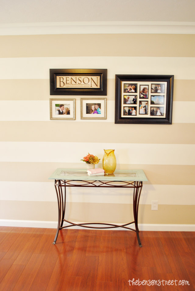 How to Paint Perfect Stripes on a Textured Wall The Easy Way at thebensonstreet.com