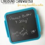 Chalkboard Sandwich Box: Back to School Series