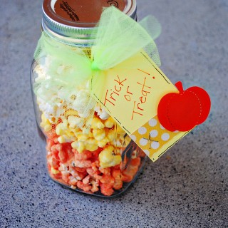 Easy Candy Corn Popcorn at thebensonstreet.com