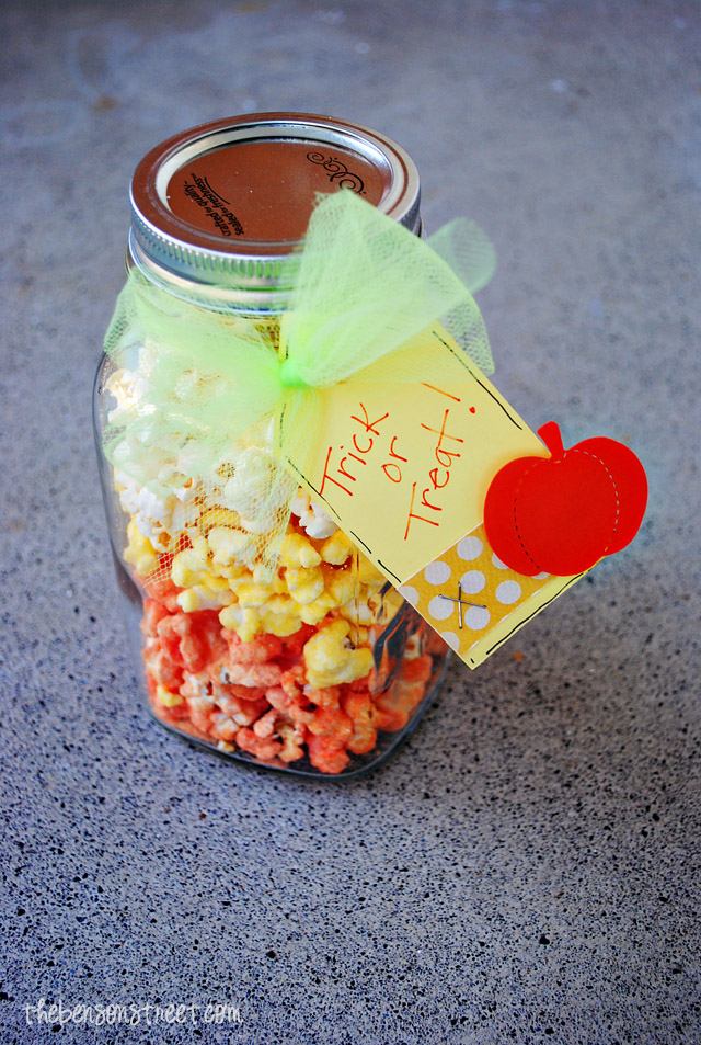 Easy Candy Corn Popcorn at thebensonstreet.com