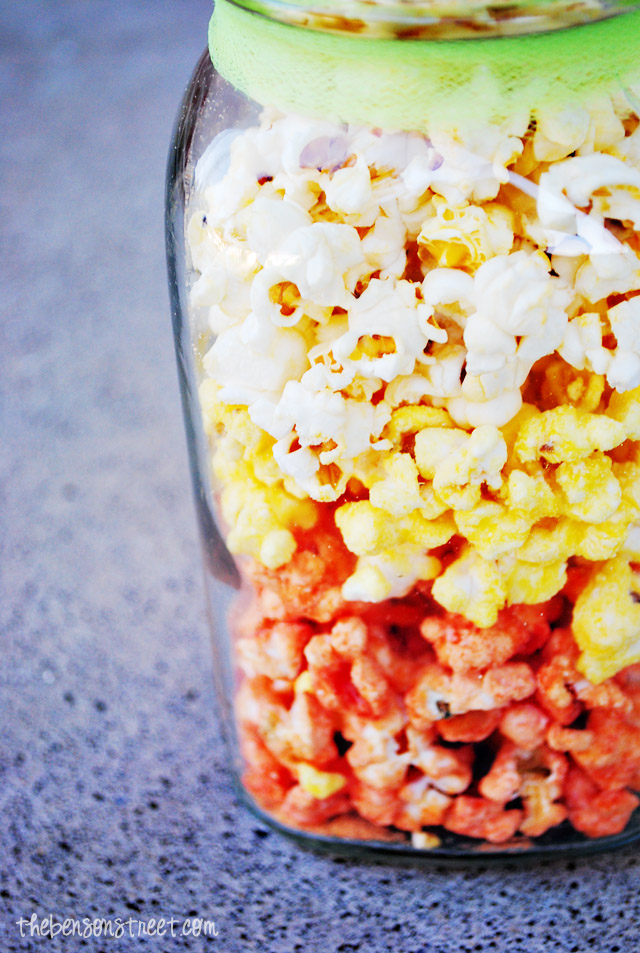 how to make candy corn popcorn