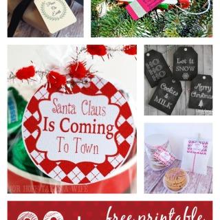 20 plus free printable Christmas gift tags at thebensonstreet.com