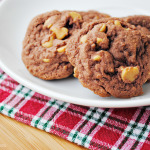 Easy Chocolate Peanut Butter Chip Cookies at thebensonstreet.com