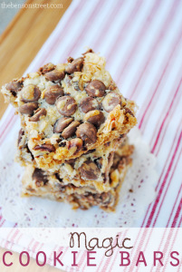 Yummy Magic Cookie Bars Recipe at thebensonstreet.com