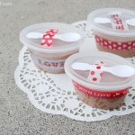 Cute individual valentine fudge cups at thebensonstreet.com
