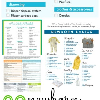 20 Newborn Checklists. Know exactly what you need to buy for baby. via thebensonstreet.com #baby #newborn #checklist