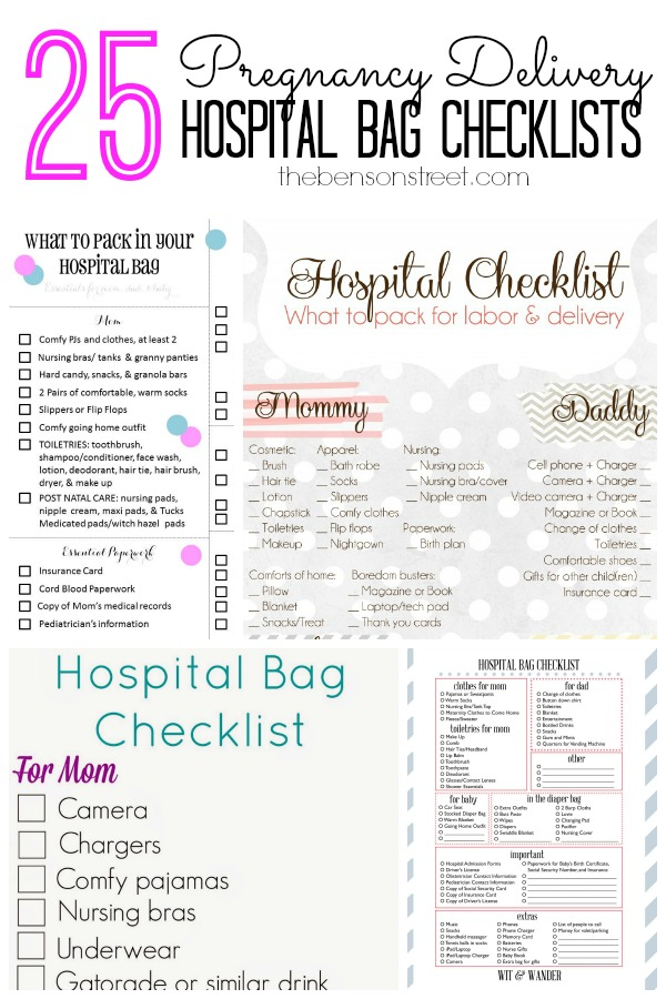 Playful image in printable pregnancy checklist