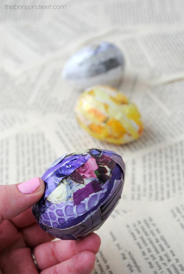 Easy Easter Egg Craft by thebensonstreet.com